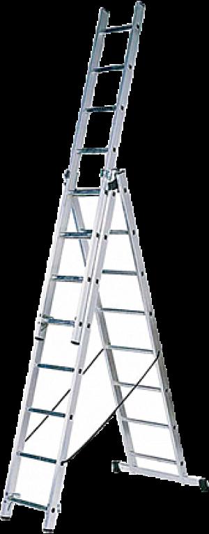 Лестница трехсекционная 3х9 ; 3.98м.