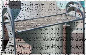 Кровать односпальная 1900*700 металлическая ДСП спинка