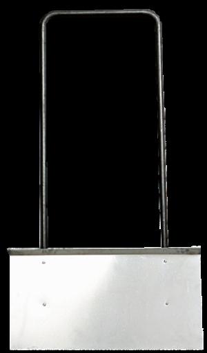 Движок дюралевый с П-образной ручкой 755х410