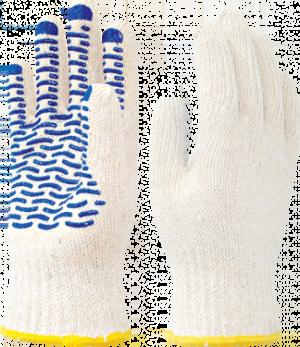 Перчатки х/б с ПВХ ВОЛНА