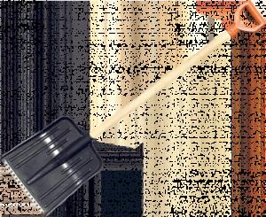 Лопата пластмассовая с оцинкованной планкой 430х490 (без черенка)